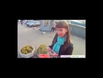 ضخ شرير امرأة سمراء آلة الروسية
