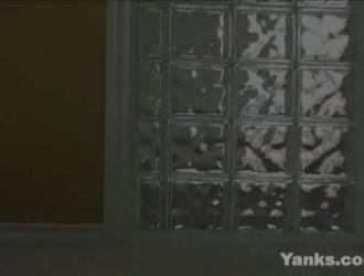رائعتين كيمبرلي يغطي العضو التناسلي النسوي في القذف