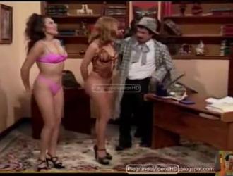 مونيكا تمارس الجنس الوحشي مع رجلين في نفس الوقت ، في صالة الألعاب الرياضية.