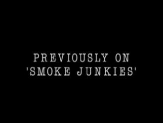 تدخين الجبهة الساخنة ، علياء تمتص عصا لحوم عشيقها الوسيم ، بينما تتمتع بمجموعة ثلاثية لطيفة
