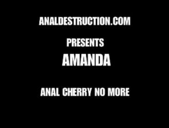 أماندا ب تحصل على مارس الجنس في المؤخرة وتشعر بالرضا التام في غرفتها بالفندق