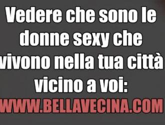 جبهة مورو إيطاليا فيستا الحصول على إصبع مارس الجنس أثناء امتصاص ديكس كبيرة