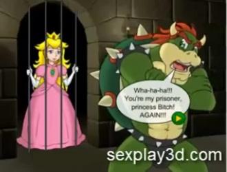 الكرتون مثلية الأميرة يحصل بوسها غزت من قبل اثنين من لعب الرجال.