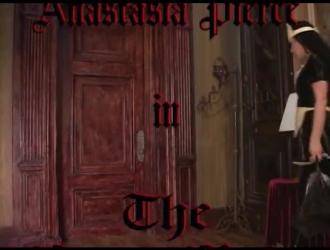 خادمة اللاتكس ، أوليفيا تمارس الجنس مع عشيقها المقرن وتضع نائب الرئيس في فمها.